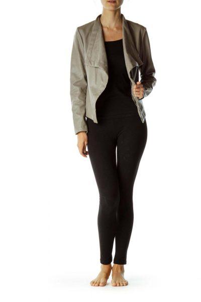 Gray Asymmetric Jacket