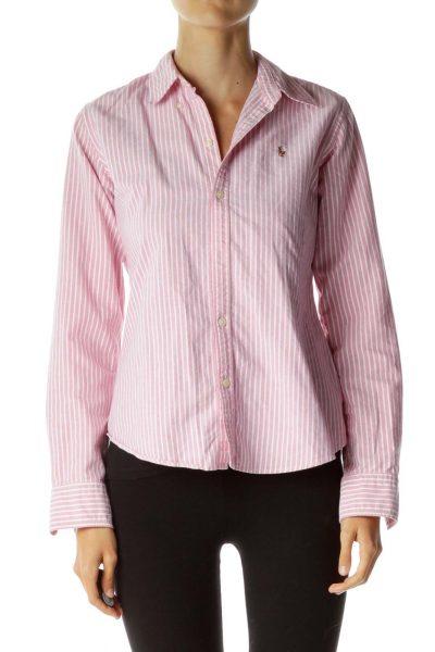 Pink White Pinstripe Shirt