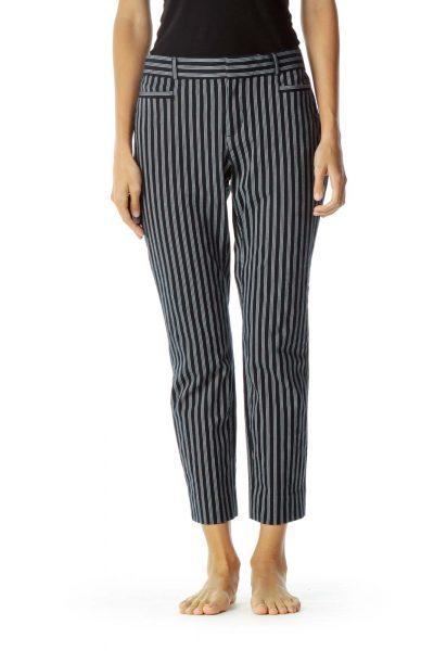 Blue White Pinstripe Skinny Pants