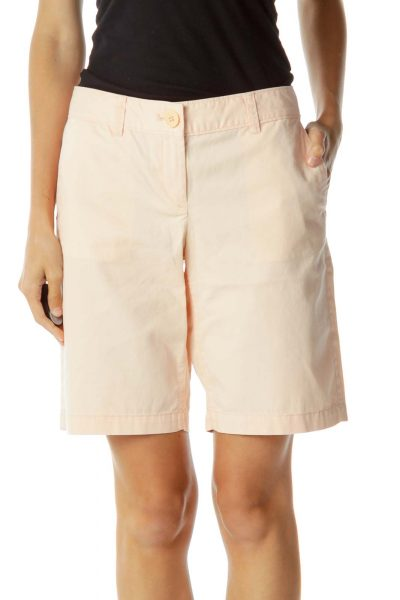 Pink Bermuda Denim Shorts