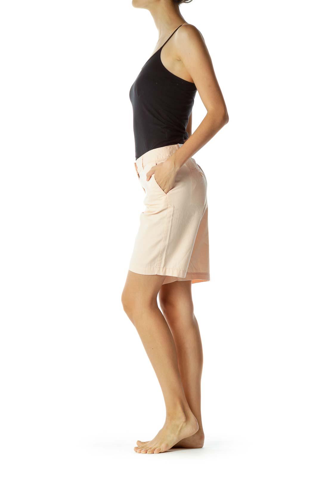 Pink Bermuda Denim Shorts