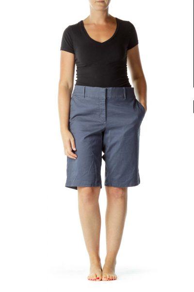 Teal Blue Bermuda Shorts