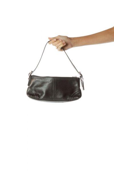 Black Mini Leather Shoulder Bag