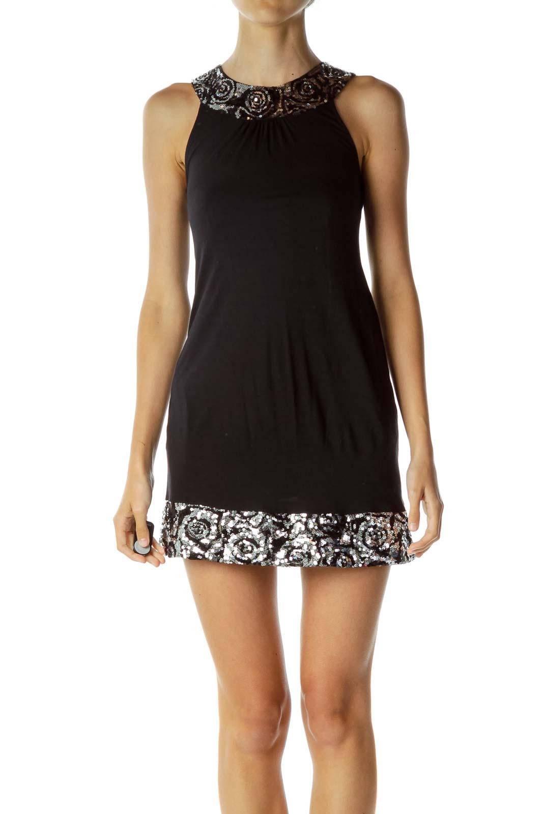 Black Sequin Detailed Dress