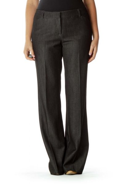 Dark Gray Straight Leg Pants