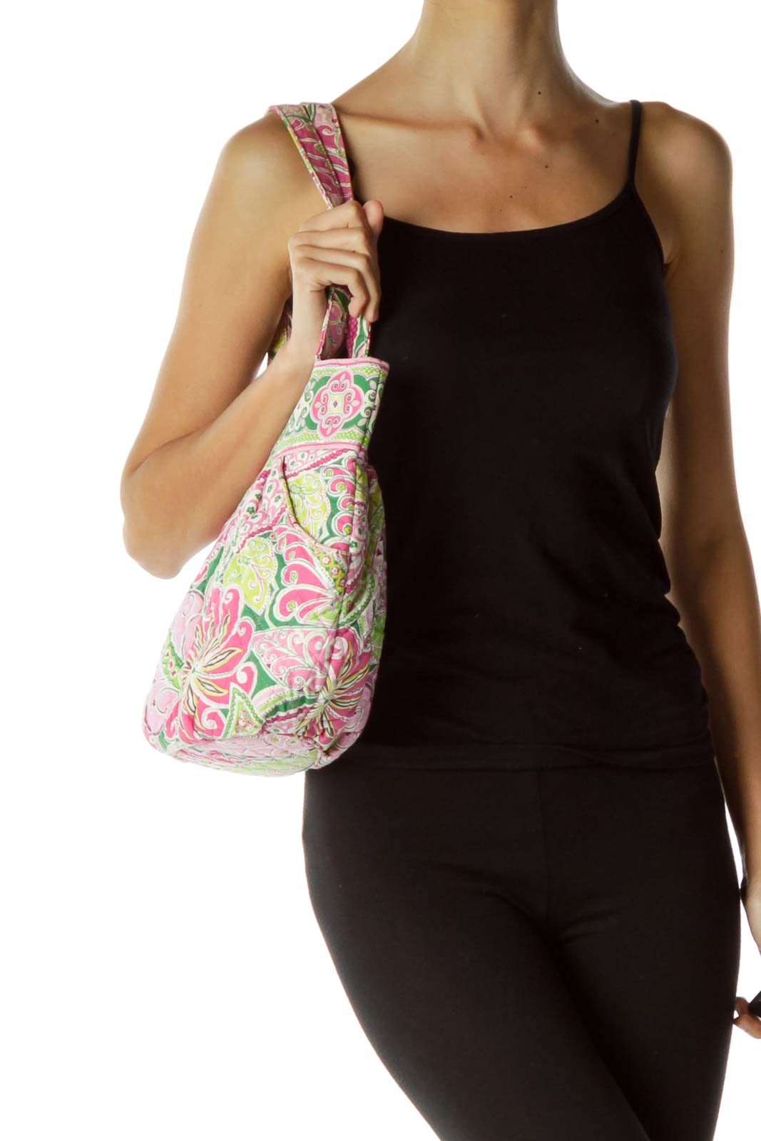 Pink Green Paisley Mini Tote