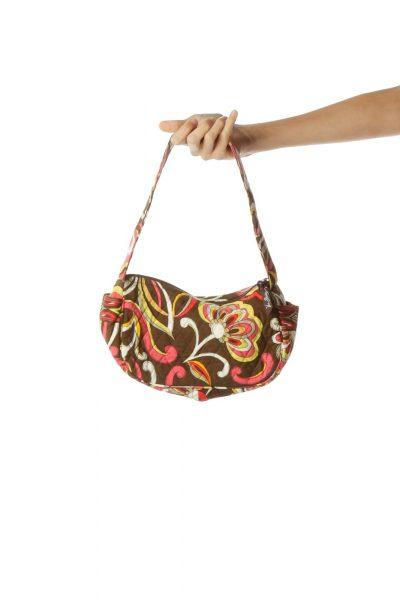 Brown Multicolor Mini Shoulder Bag