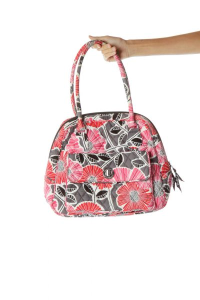 Pink Gray Mini Tote Bag