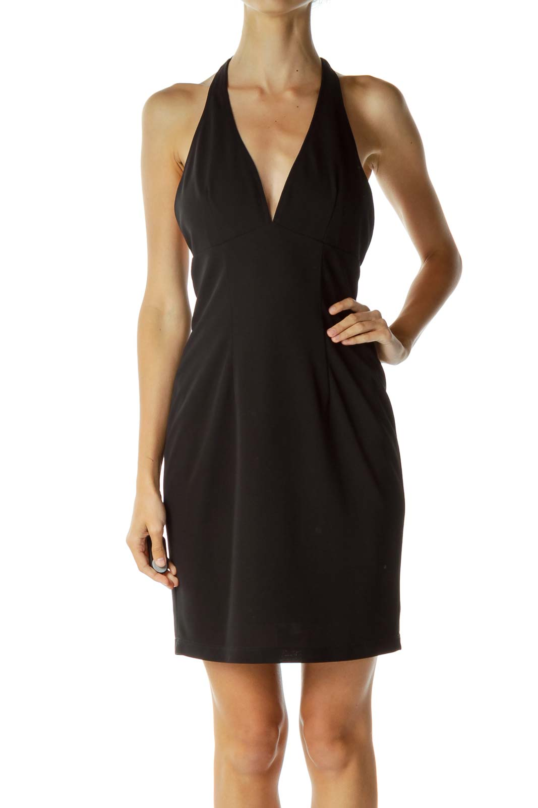 Black Halter-Neck Dress