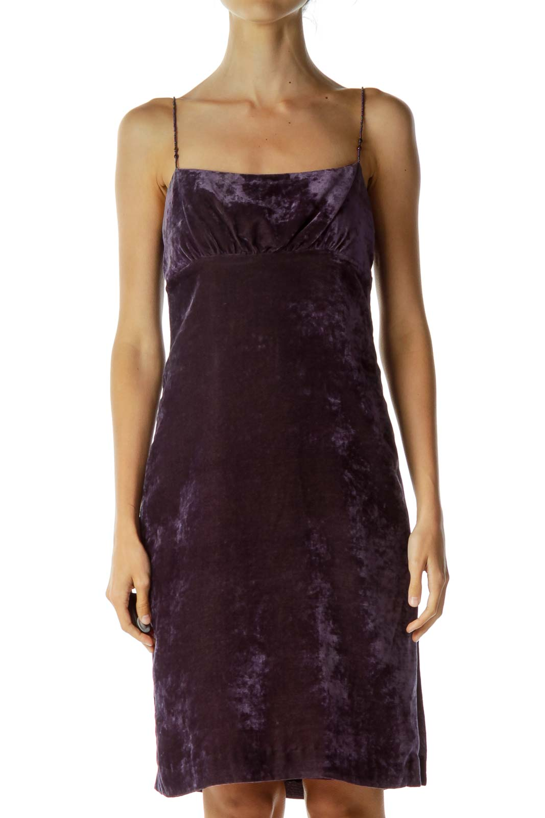 Purple Beaded Dress