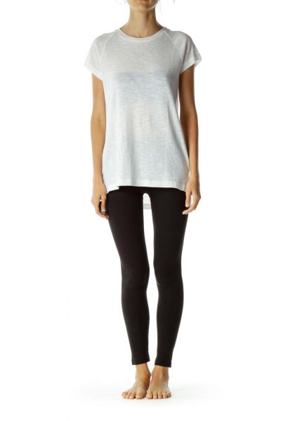White Round-Neck T Shirt