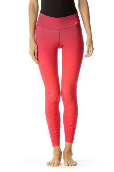Red Orange Ombre Yoga Pants