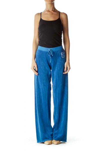 Blue Terry Cloth Pants