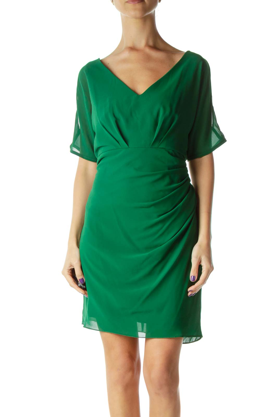 Green Cold-Shoulder Dress