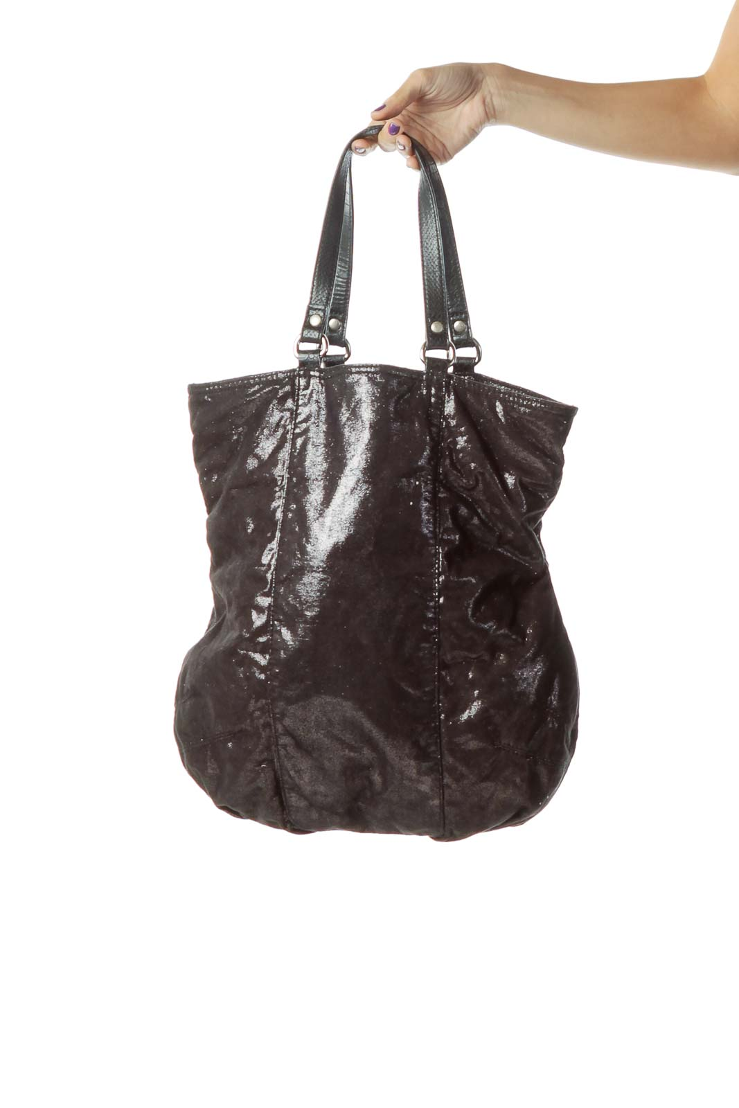 Black Sparkle Shoulder Bag