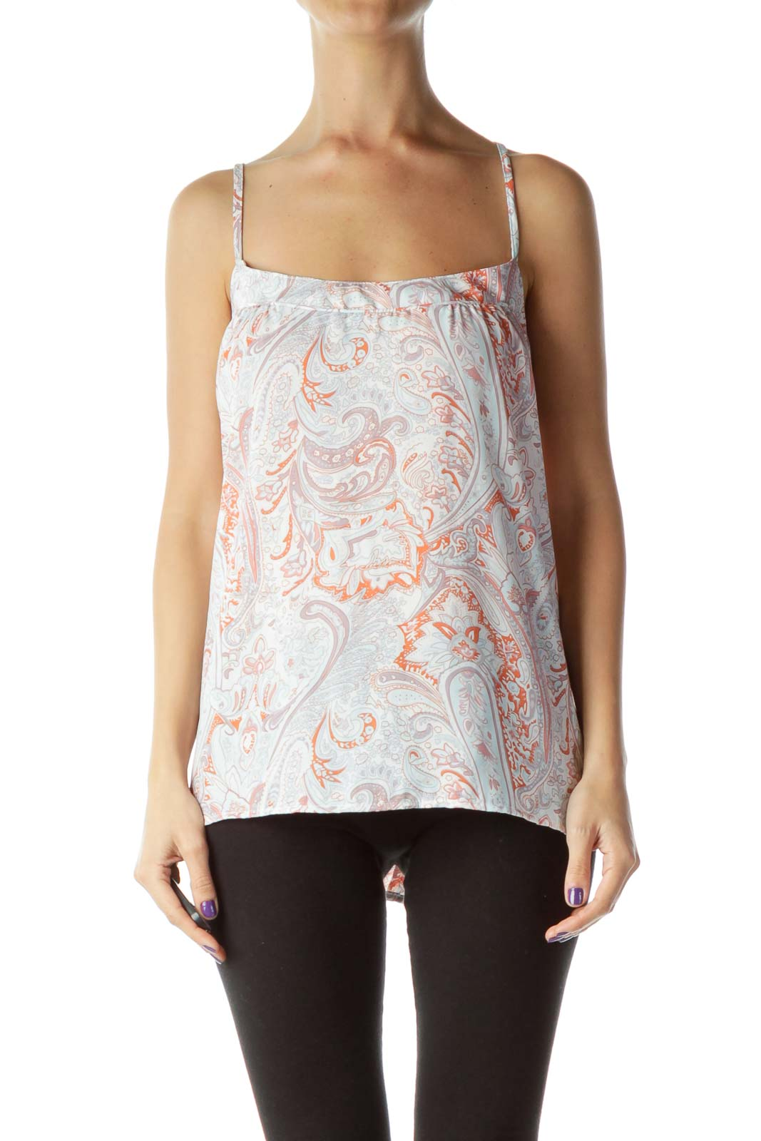 Multicolor Patterned Tank Top