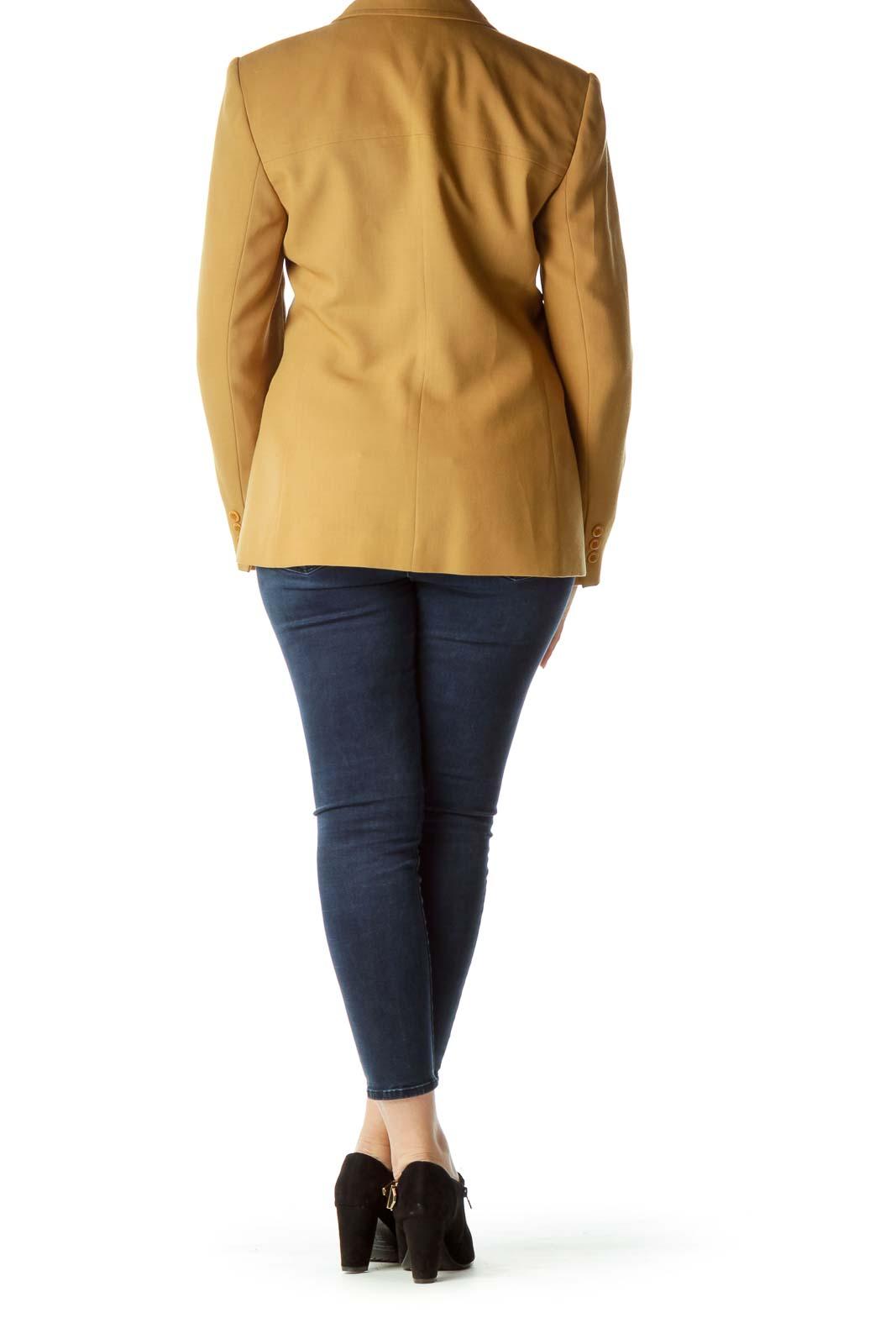 Mustard Yellow Buttoned Blazer