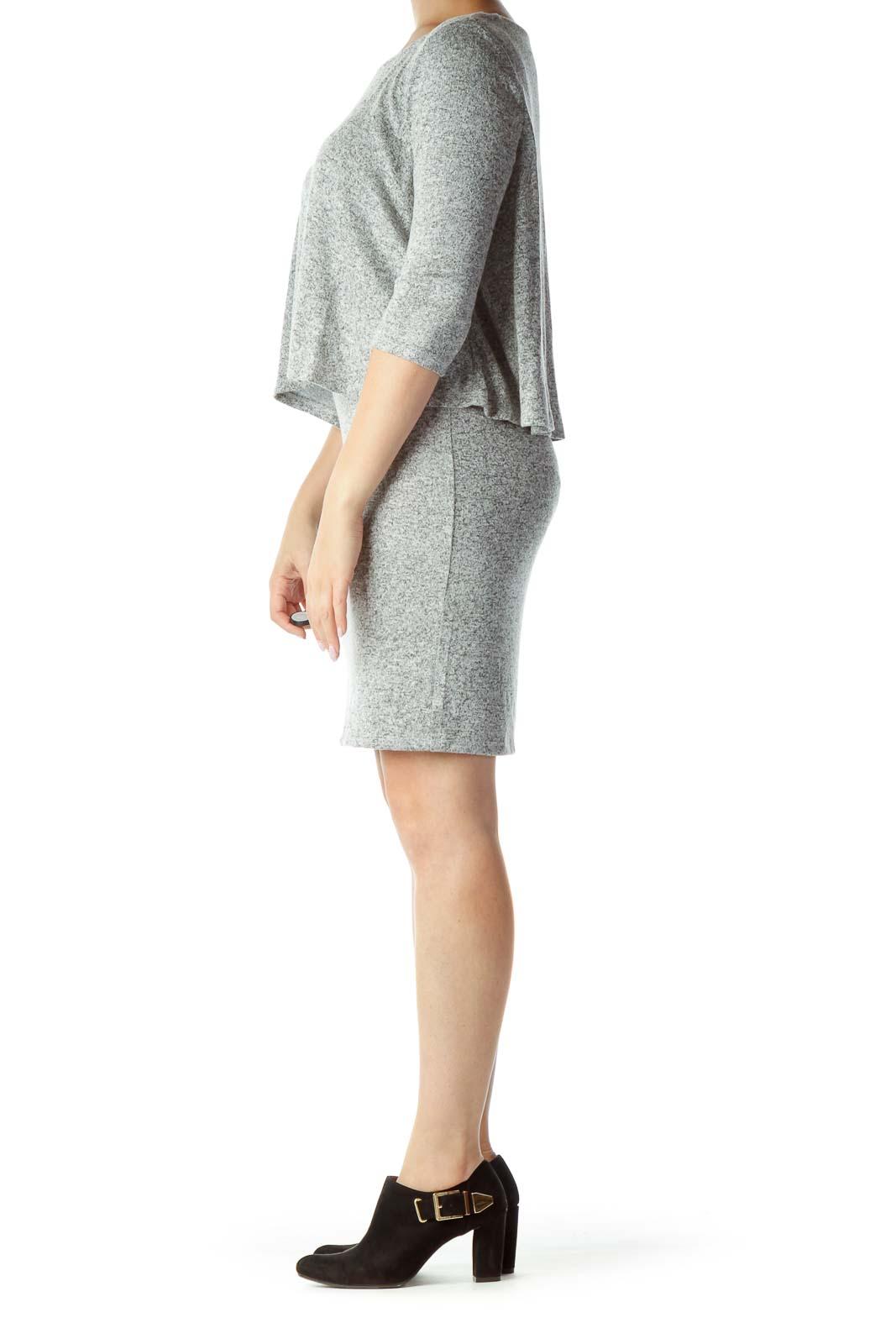 Heather Gray 3/4-Sleeve Knit Dress