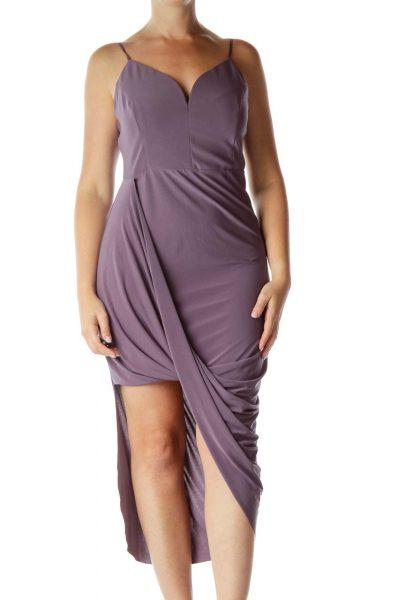 Purple Asymmetric Dress