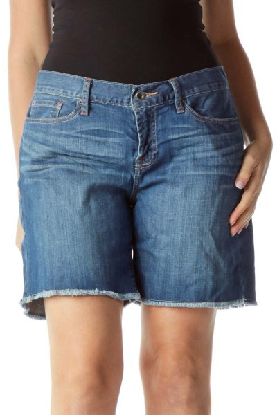 Blue Abbey Short Denim Shorts