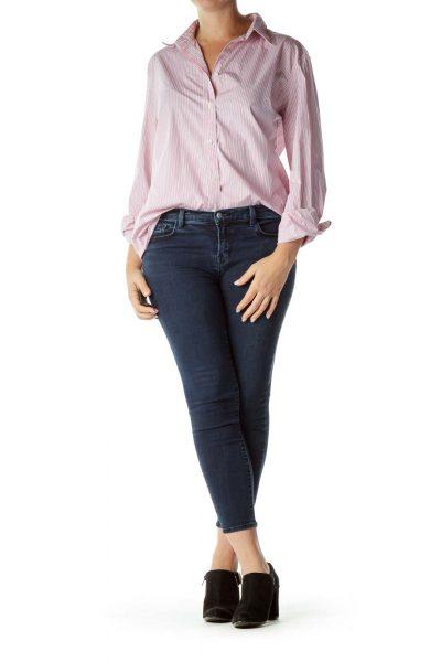 Pink Pinstripe Long Sleeve Shirt