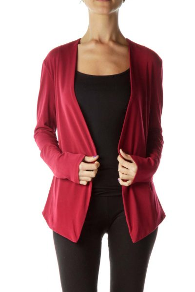 Red Open Fitted Blazer