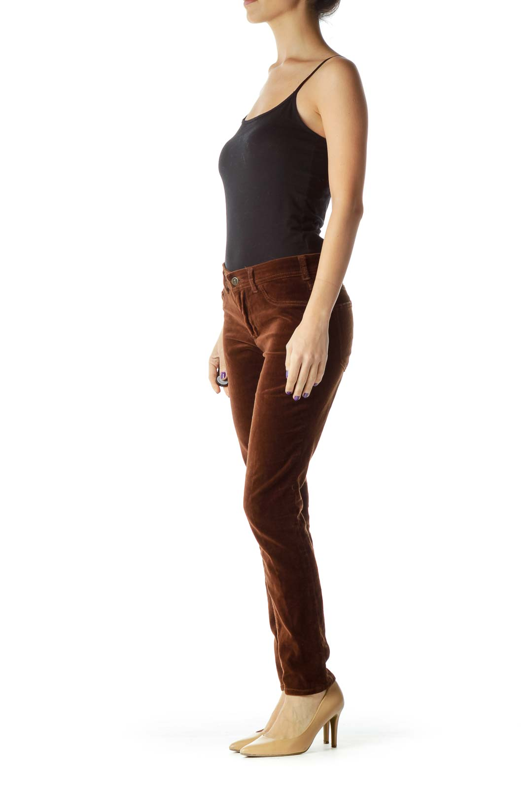 Brown Tapered Pants