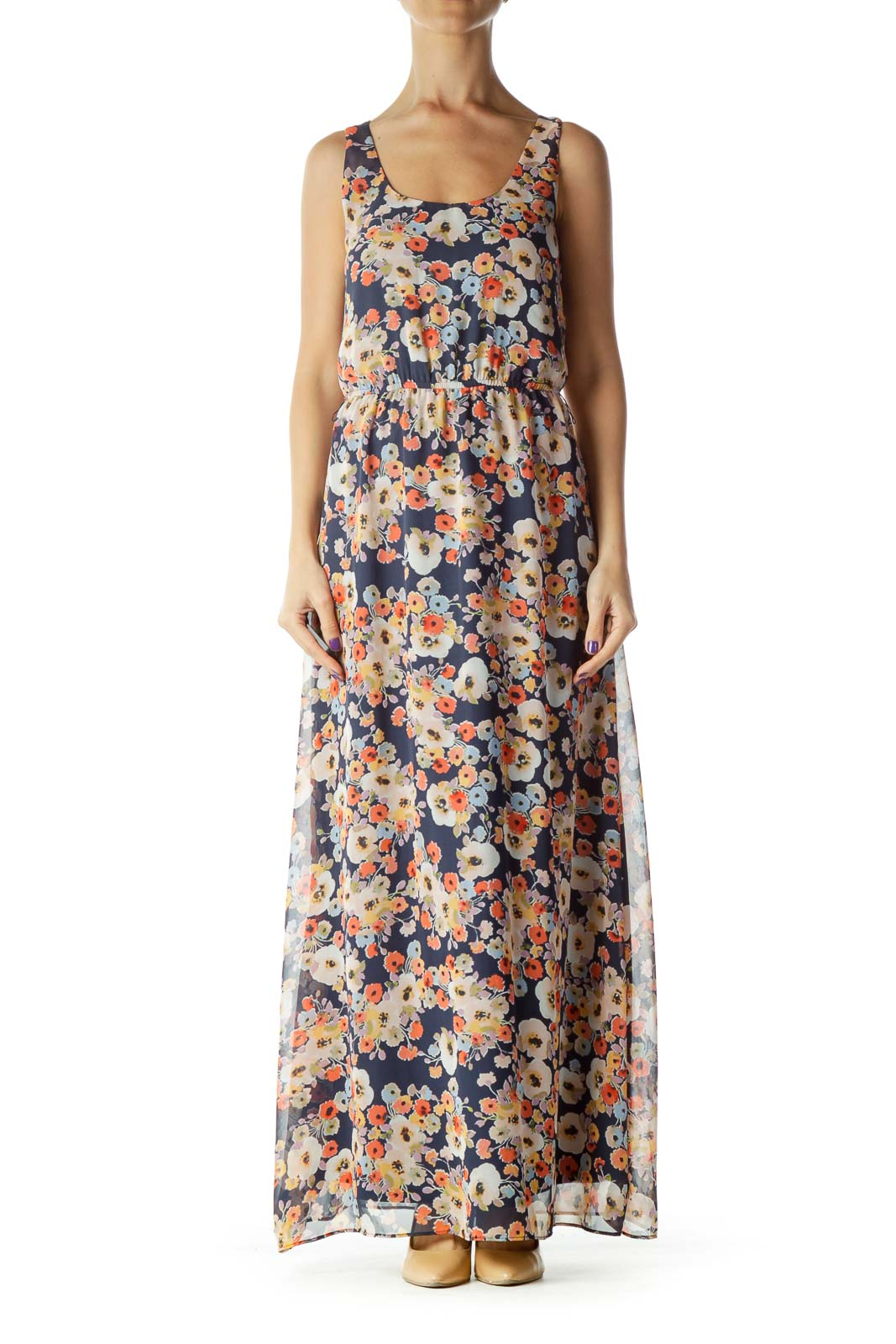 Multicolor Floral Maxi Dress