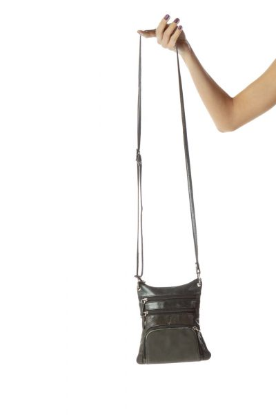 Black Crossbody Pocketed Bag