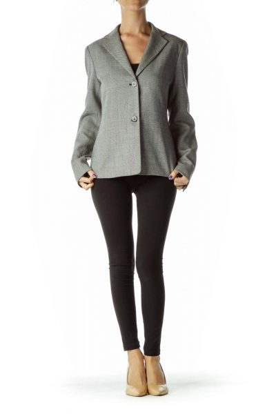 Black White Tweed Blazer