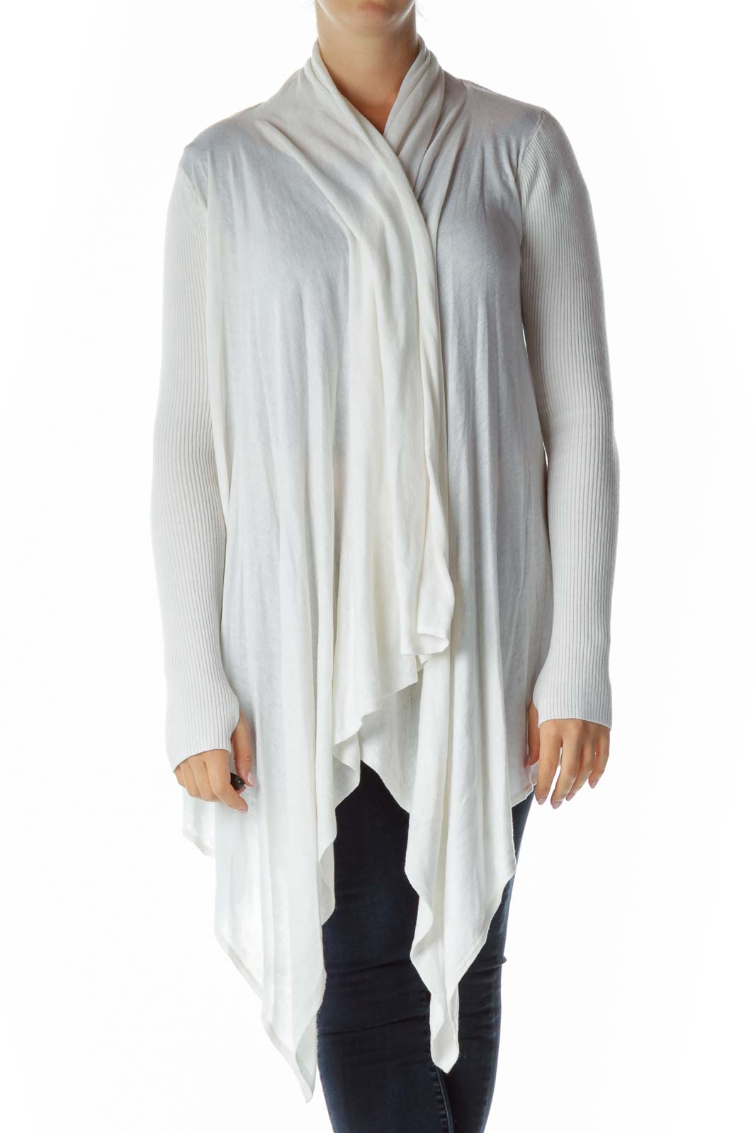White Loose Knit Sweater