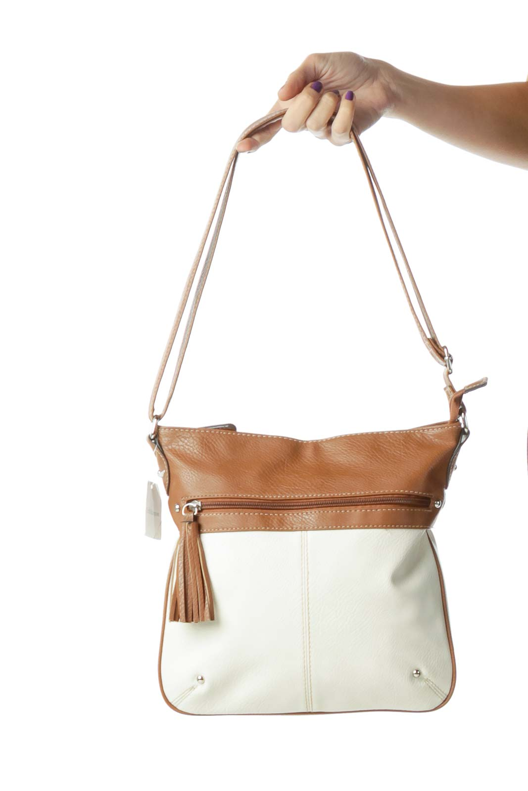 Brown Cream Crossbody Bag