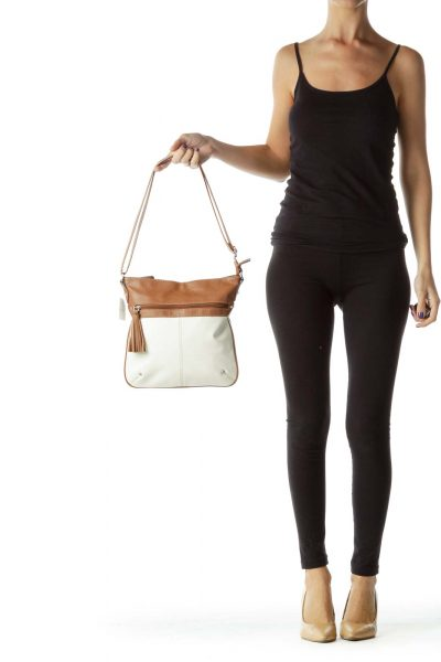 Brown Cream Crossbody Bag