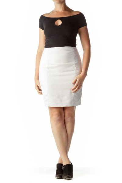 Pink Pleated Pencil Skirt