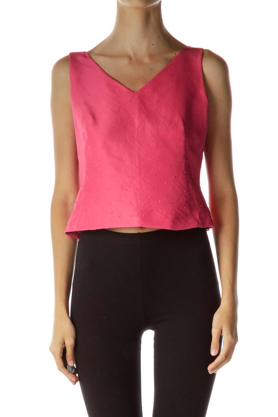 Pink Silk Beaded Blouse