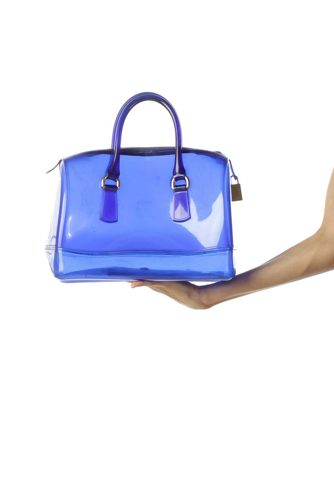 Clear Blue Shoulder Bag