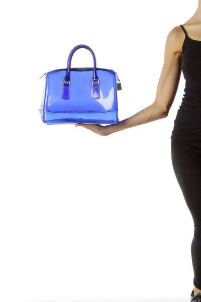 Clear Blue Shoulder Bag