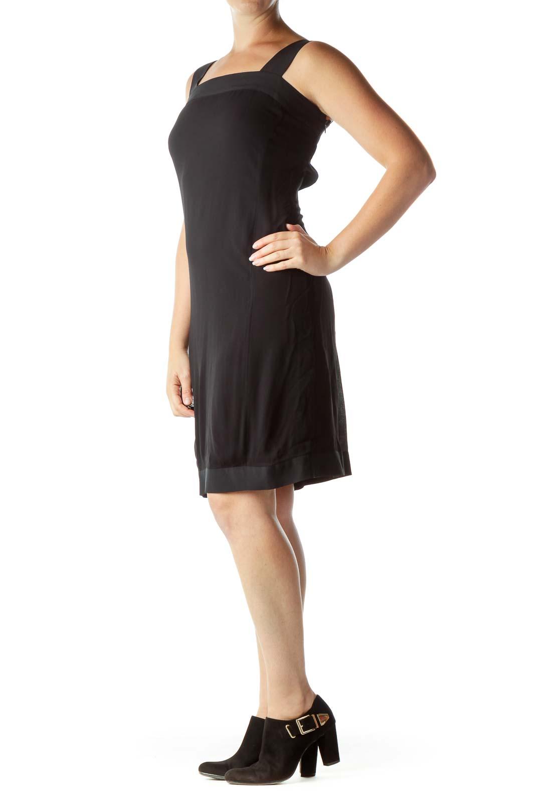 Black Open Back Cocktail Dress