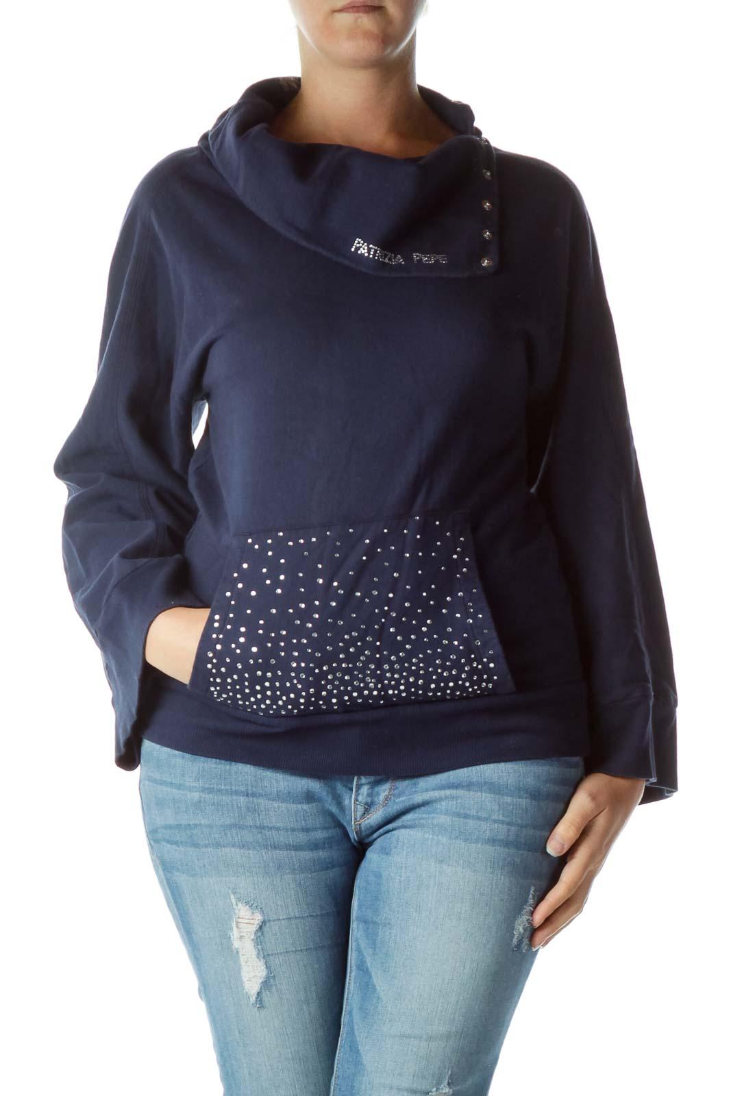 Navy Silver Gemstone Sweater