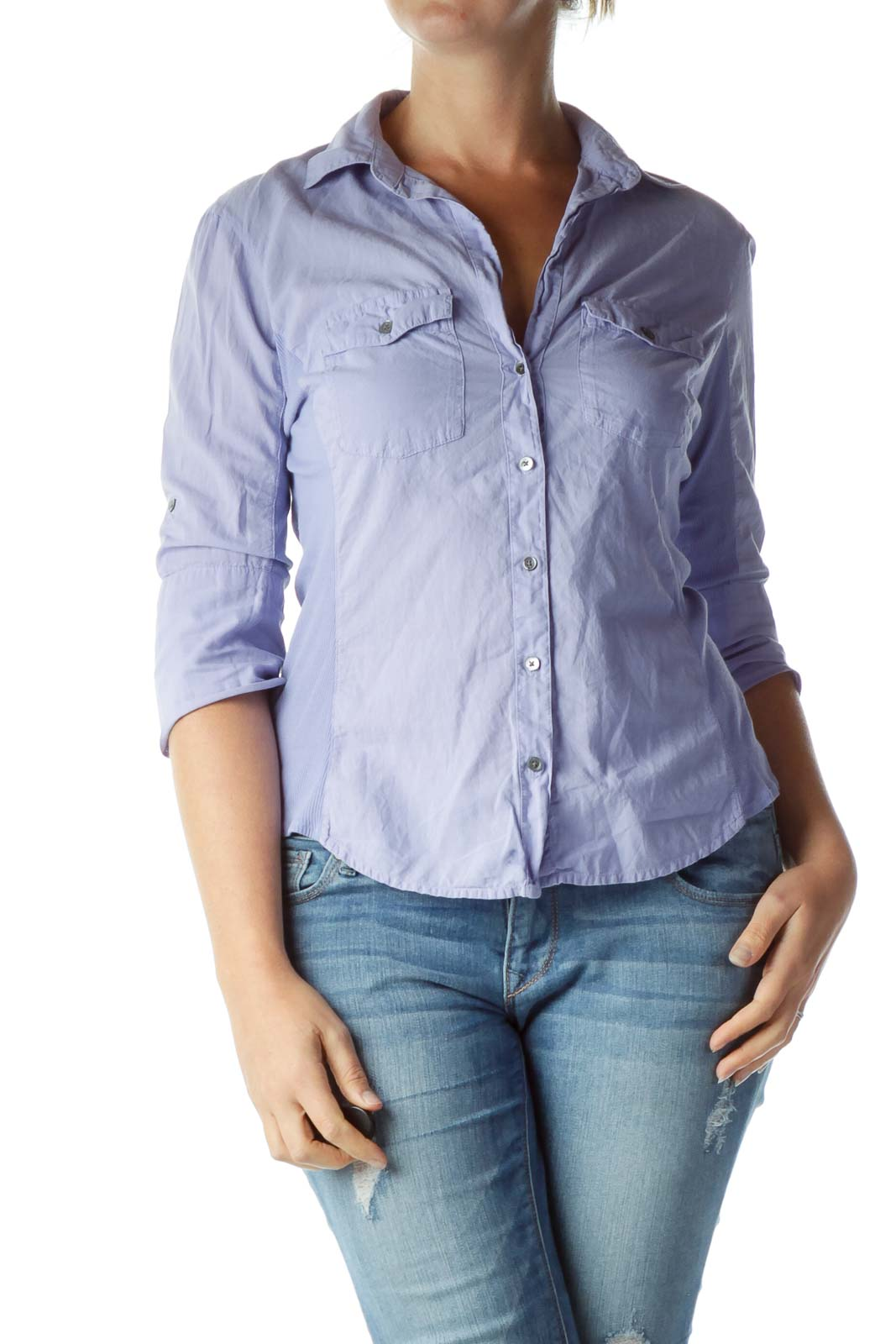 Purple Buttoned Shirt