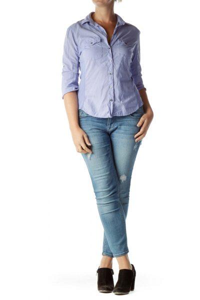 Purple Buttoned Shirt