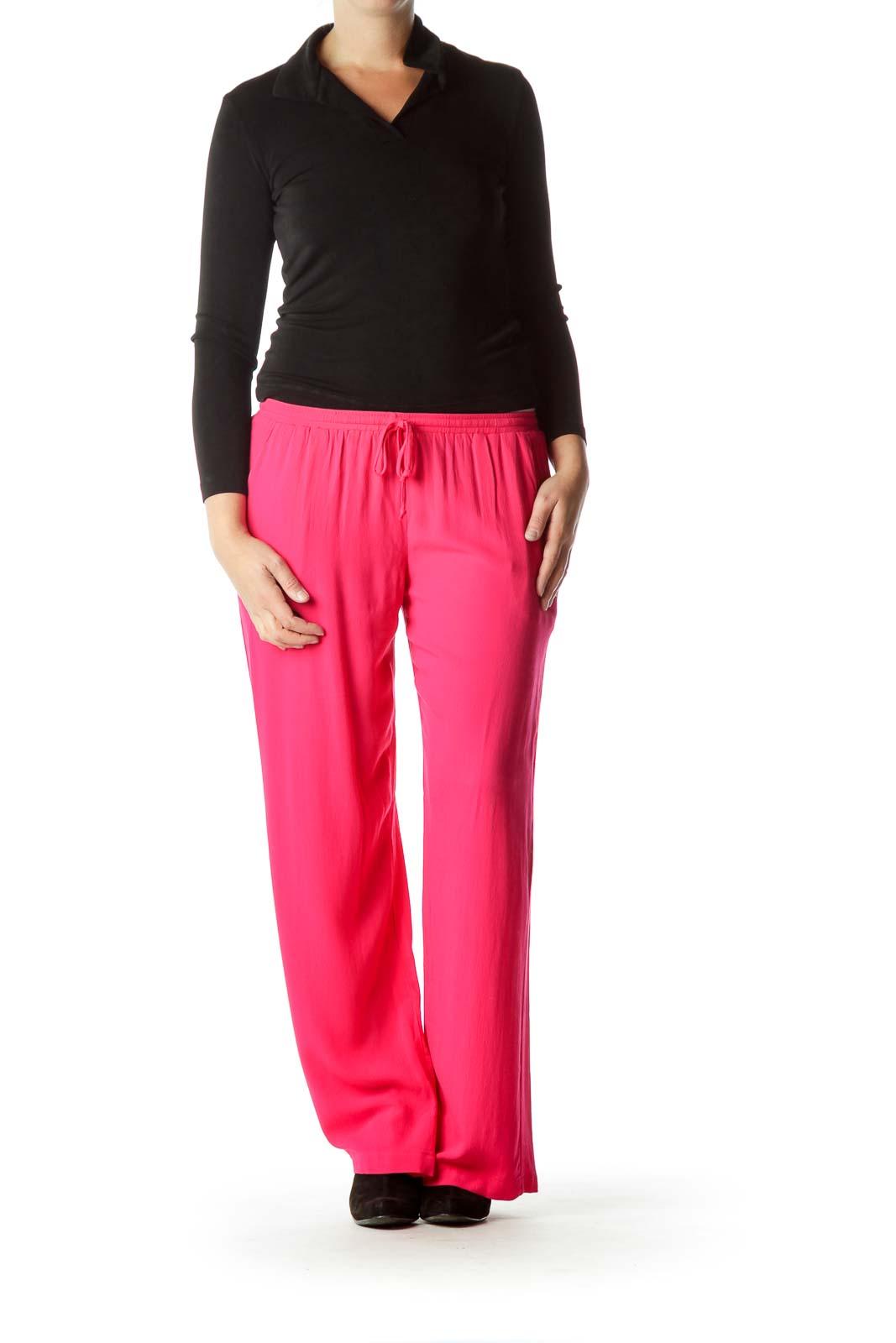 Pink Drawstring Track Pants