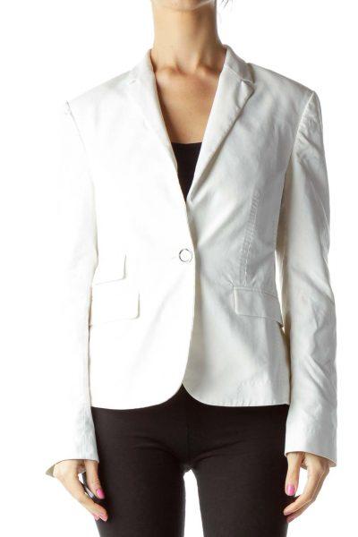 White Blazer with Silver Button
