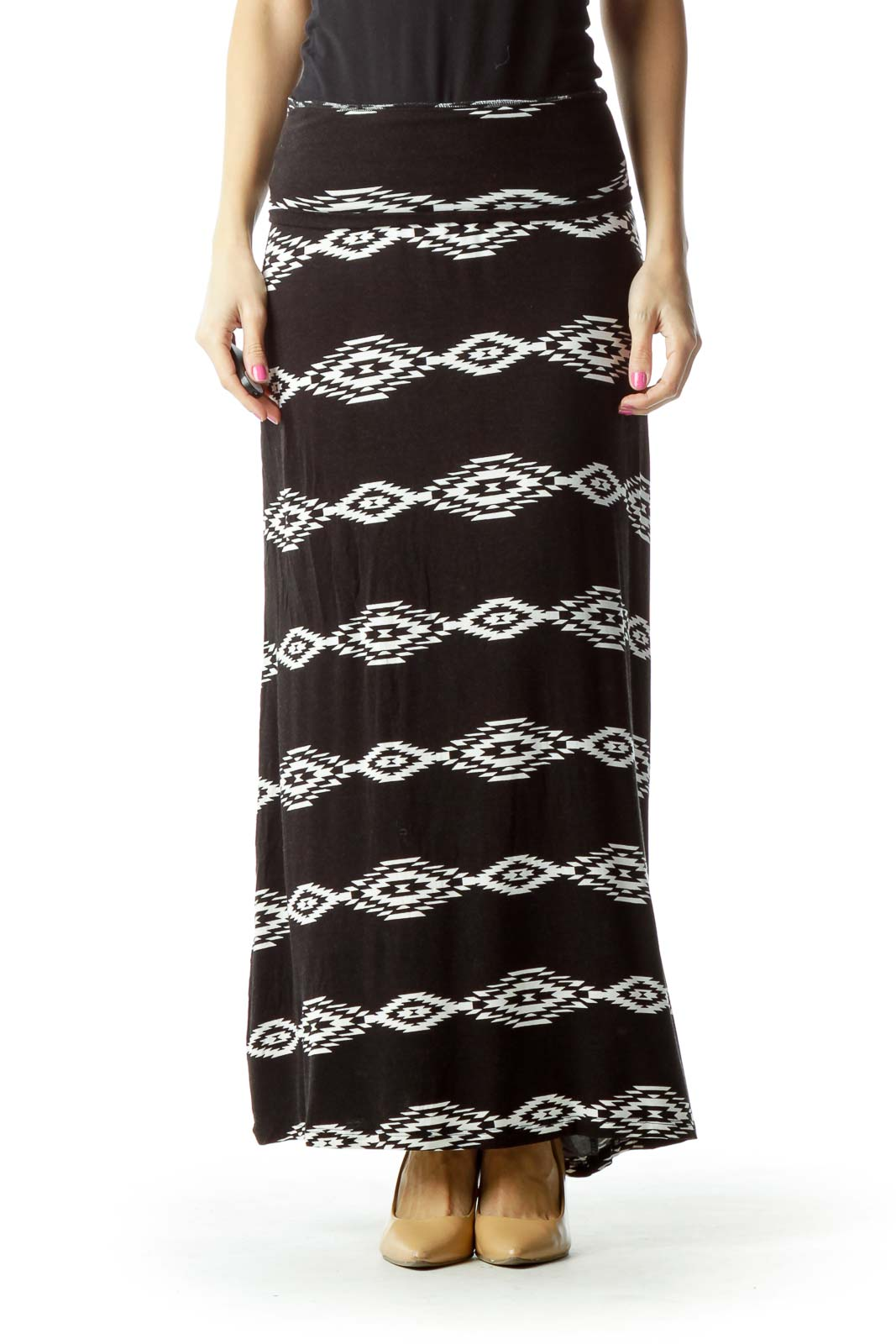 Outfits With Black And White Maxi Skirt | Huston Fislar Photography
