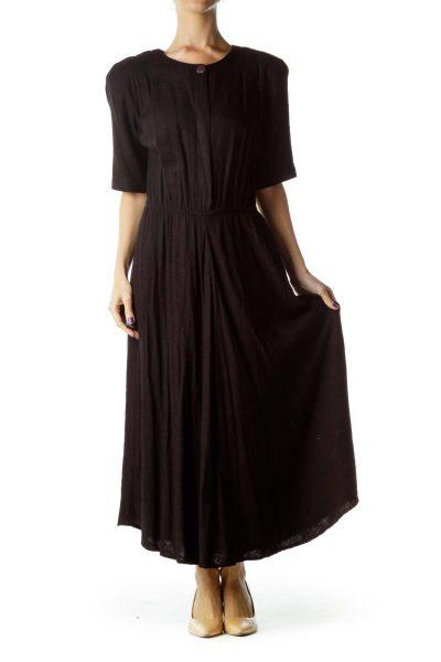 Black Vintage Maxi Dress