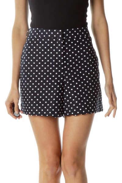 Navy Polka-Dot Short