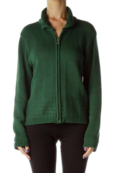 Green Zippered Sweater