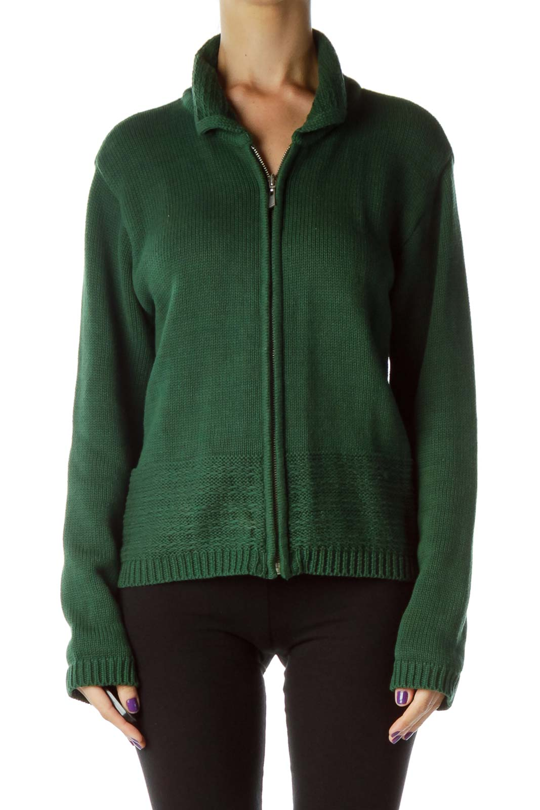Green Zippered Sweater