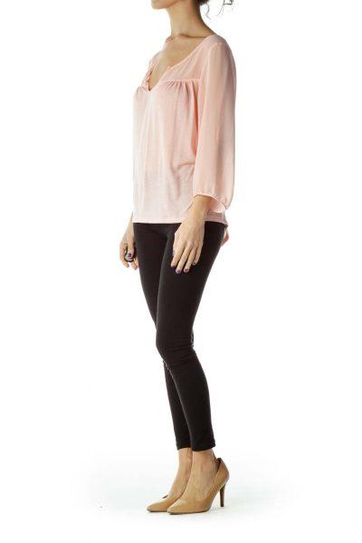 Pink 3/4 Sleeve Top