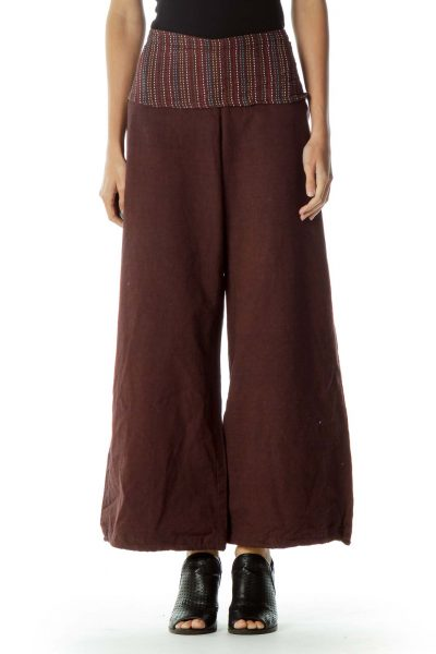Brown Wide Leg Pant